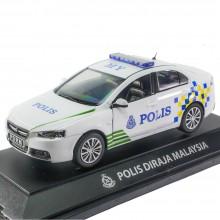 1:32 Proton Inspira Polis Police Diraja Malaysia PDRM 269 Die-cast White Car Model Collection