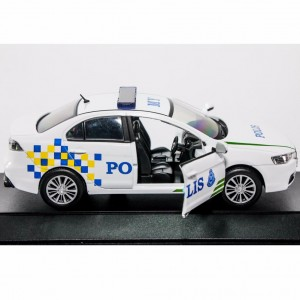 1:32 Proton Inspira Polis Police Diraja Malaysia PDRM 269 Die-cast White Car Model Collection