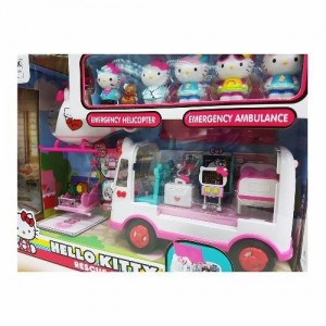 8840df0b5 Jada Toys Hello Kitty Rescus Set Die-cast Genuine License Product White  Model Collection Christmas New Gift