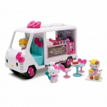 Jada Toys Hello Kitty Food Truck Die-cast Genuine License Product White Model Collection Christmas New Gift