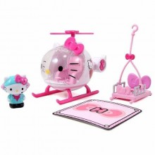 Jada Toys Hello Kitty Emergency Helicopter Die-cast Genuine License Product White Model Collection Christmas New Gift