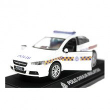 1:32 scale Proton Inspira Polis Police Diraja Malaysia Pdrm 189 Diecast Blue (White)