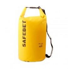 Safebet Waterproof Shoulder dry bag pouch 20L (Yellow)