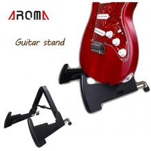 Aroma AGS-02 BIG Compact Guitar Stand Folding Plastic Rack Bass Ukulele Acoustic