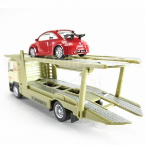 Affluent Town Carrier Set MAN 1:64 Green Die-cast Collection New Gift Toys Model