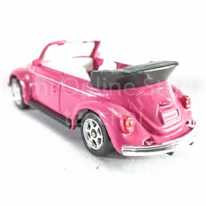 Welly 1:60 Die-cast Volkswagen Beetle Convertible Car Pink Model Collection