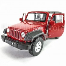 Welly 1:34-1:39 Die-cast 2007 Jeep Wrangler Rubicon Car Red Model Collection