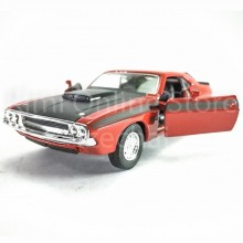 Welly 1:34-1:39 Die-cast 1970 Dodge Challenger T/A Car Orange Model Collection