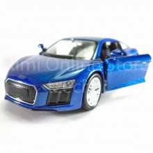 Welly 1:34-1:39 Die-cast 2016 Audi R8 V10 Car Blue Color Model Collection New