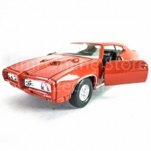 Welly 1:34-1:39 Die-cast 1969 Pontiac GTO Car Orange Color Model Collection New