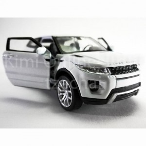 Welly 1:34-1:39 Die-cast Land Rover Range Rover Evoque Car White Color Model