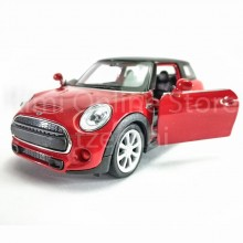 Welly 1:34-1:39 Die-cast New Mini Hatch Car Red Color Model Collection New Gift