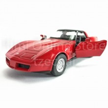 Welly 1:34-1:39 Die-cast 1982 Chevrolet Corvette Car Red Color Model Collection