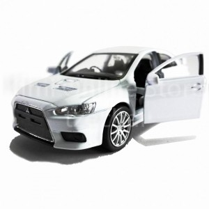 Welly 1:34-1:39 Die-cast Mitsubishi Lancer Evolution X Car White Color Model