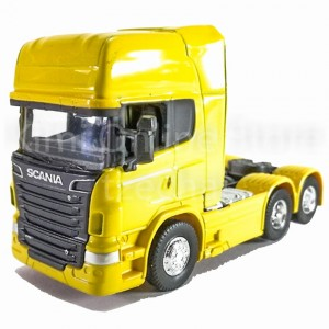 Welly 1:64 Die-cast Scania V8 R730 Truck Yellow Color Model Collection New Gift