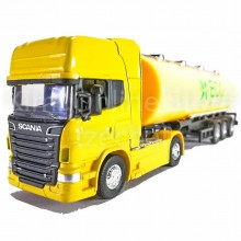 Welly 1:64 Die-cast Scania V8 R730 Eco Oil Tanker Truck Yellow Model Collection