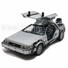 Welly 1:24 Die-Cast Back To The Future I Car Silver Color Model Collection