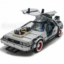 Welly 1:24 Die-Cast Back To The Future III Car Silver Color Model Collection