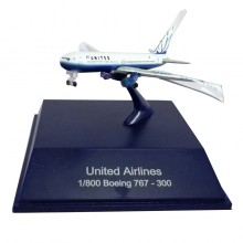 NewRay Die-cast Sky Pilot United Airlines 1:800 Boeing 767-300 White Color Model