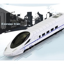 Die-cast BKK-001 Shenzhen Express Train 6 inch White Color Model Collection Gift