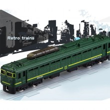 Die-cast BKK-004 Shijiazhuang Retro Train 6 inch Green Color Model Collection