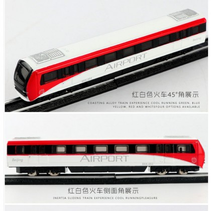Die-cast Airport Beijing Express Train 6 inch White/Red Color Model Collection