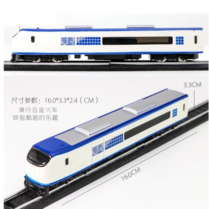 Die-cast JR Train 6 inch White / Blue Color Model Collection Christmas New Gift
