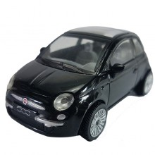 Newray Die-cast Fiat 500 Black Color 1:43 Model Collection New Gift Christmas