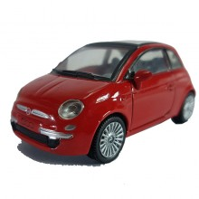 Newray Die-cast Fiat 500 Red Color 1:43 Model Collection New Gift Christmas