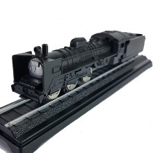 Die-cast BKK Steam Locomotive Coal Train 6 Inch Black Color Model Collection