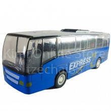Die-cast True Hero Express City Bus 6.5 Inch Blue Sound Music Light