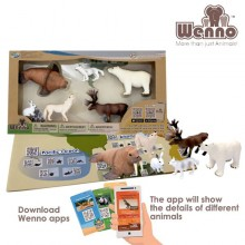 Arctic Wenno Eco Non-Toxic Animal Play-set 6 pcs Polar Bear Moose walrus Fox Toy