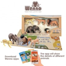 Africa Wenno Eco Non-Toxic Animal Play-set ostrich Lion hyena elephant 5 pcs New