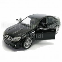 Newray 1:24 Die-cast Mercedes Benz c63 AMG Black Color Model Collection Gift New