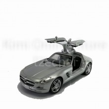 Newray 1:24 Diecast Mercedes Benz SLS AMG Silver Color Model Collection Gift New