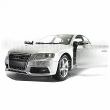 Newray 1:24 Die-cast Audi A4 Saloon Silver Color Model Collection Christmas Gift