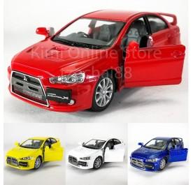 Kinsmart 1:36 Die-cast 2008 Mitsubishi Lancer Evolution X Car Model Collection