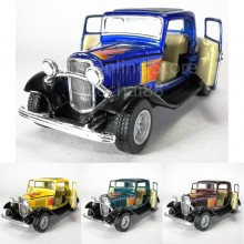 Kinsmart 1:34 Die-cast 1932 Ford 3-Window Coupe Car Metal Model Collection New