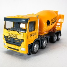 DSM 1:64 Die-Cast Concrete Mixer Truck Orange Color Model Collection New Gift