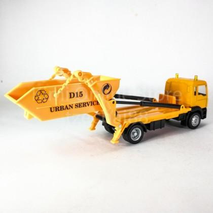 DSM 1:64 Die-Cast MAN Delivery Dump Truck Orange Color Model Collection New