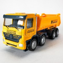 DSM 1:64 Die-Cast Dump Truck Orange Color Model Collection Christmas New Gift