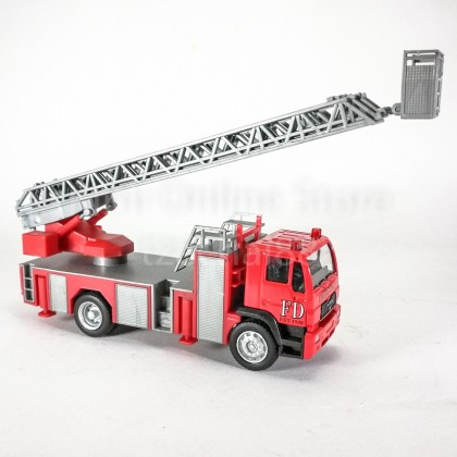 DSM 1:64 Die-Cast MAN Fire Ladder Truck Red Color Model Collection New Gift