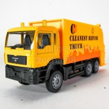 DSM 1:64 Die-Cast MAN Garbage Truck Orange Color Model Collection New Gift