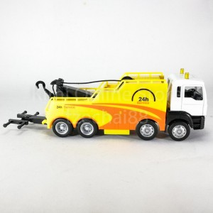 DSM 1 64 Die-Cast MAN Tow Truck White Yellow Color Model Collection New Gift