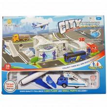 Toy Figure Aero plane City Airport truck Scale Scenario Play Set 3D 36pcs Family