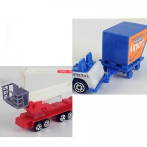 Airport Toy Plane Play Set 1:87 Tuck Aircraft Fire Ladder Truck Ambulance Figure