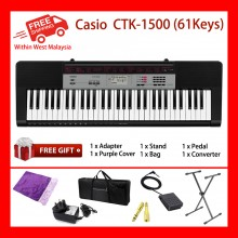 61 Key Casio CTK-1500 Electronic Keyboard Piano Organ 70 Rhythms 32 Polyphony