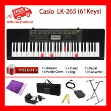 61 Key Casio LK-265 Electronic Keyboard Piano Organ Lighting System 48 polyphony