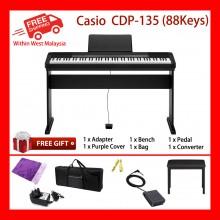 88 Keys Casio CDP-135 Digital Electronic Keyboard Piano Organ 10 built in tones