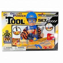 Deluxe Power Tool Set 70 pcs Do It Yourself DIY Repair Toys Gift Section A